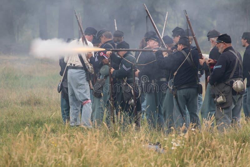 Ένα πεζικό στρατού ένωσης στον πόλεμο στοκ εικόνες με δικαίωμα ελεύθερης χρήσης