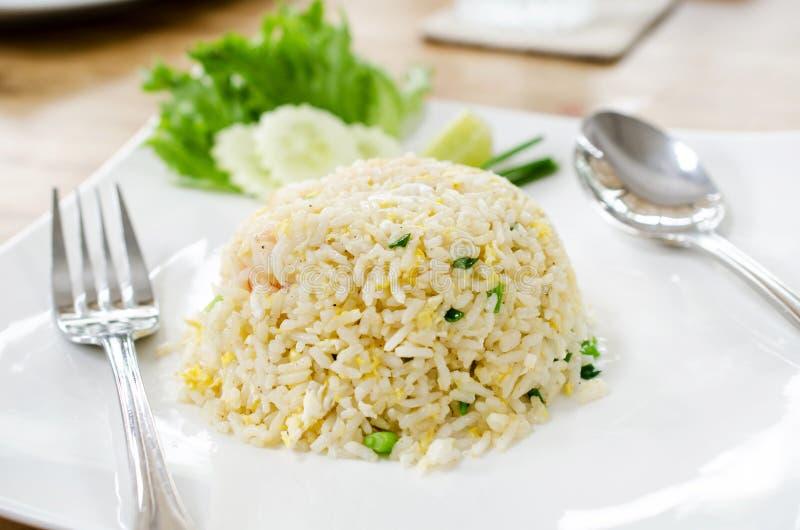 Ένα πιάτο του ρυζιού με τα λαχανικά Εκλεκτική εστίαση στοκ εικόνες με δικαίωμα ελεύθερης χρήσης