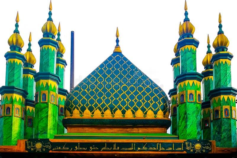 Ένα πολύ μεγάλο κτήριο μουσουλμανικών τεμενών στοκ εικόνα