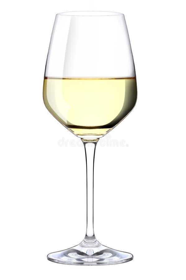 Ένα ποτήρι του άσπρου κρασιού στοκ εικόνες