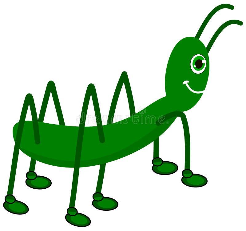 Ένα πράσινο grasshopper σχεδιάγραμμα ελεύθερη απεικόνιση δικαιώματος