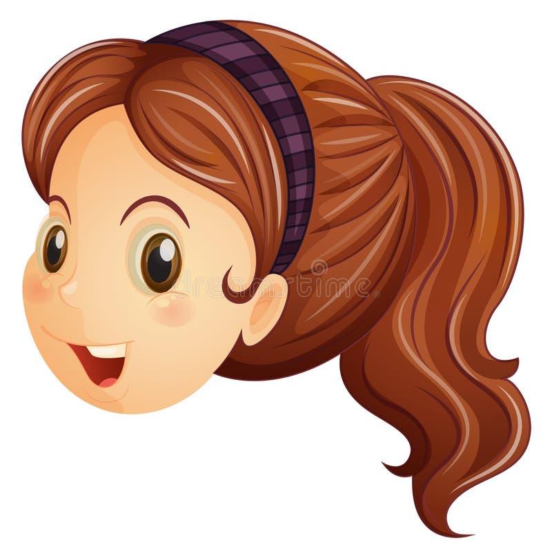 Ένα πρόσωπο ενός κοριτσιού με headband ελεύθερη απεικόνιση δικαιώματος