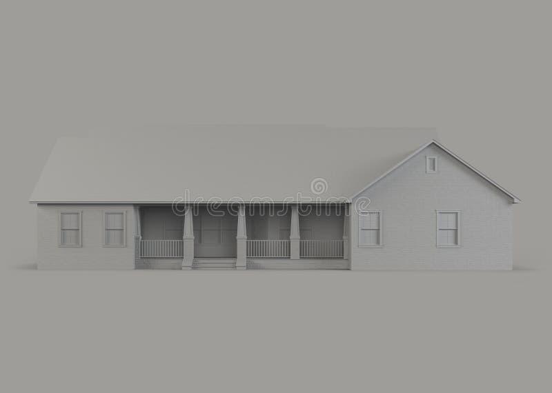 Ένα πρότυπο ενός σπιτιού με ένα γκαράζ απεικόνιση αποθεμάτων