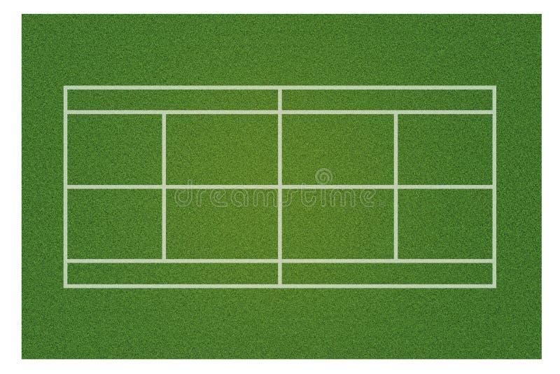 Ένα ρεαλιστικό κατασκευασμένο πράσινο γήπεδο αντισφαίρισης χλόης ελεύθερη απεικόνιση δικαιώματος
