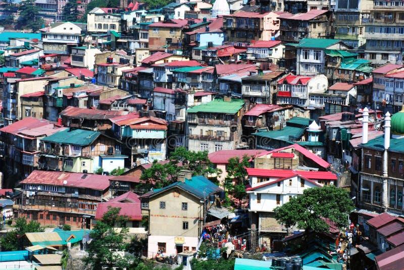 Ένα σενάριο της πόλης Shimla στην Ινδία στοκ φωτογραφίες με δικαίωμα ελεύθερης χρήσης