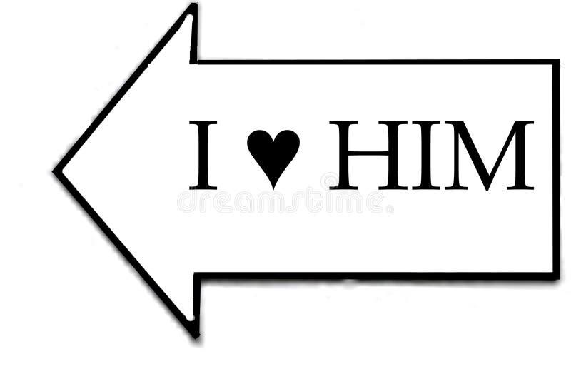 Ένα σημάδι που λέει το Ι τον αγαπά στοκ φωτογραφία με δικαίωμα ελεύθερης χρήσης