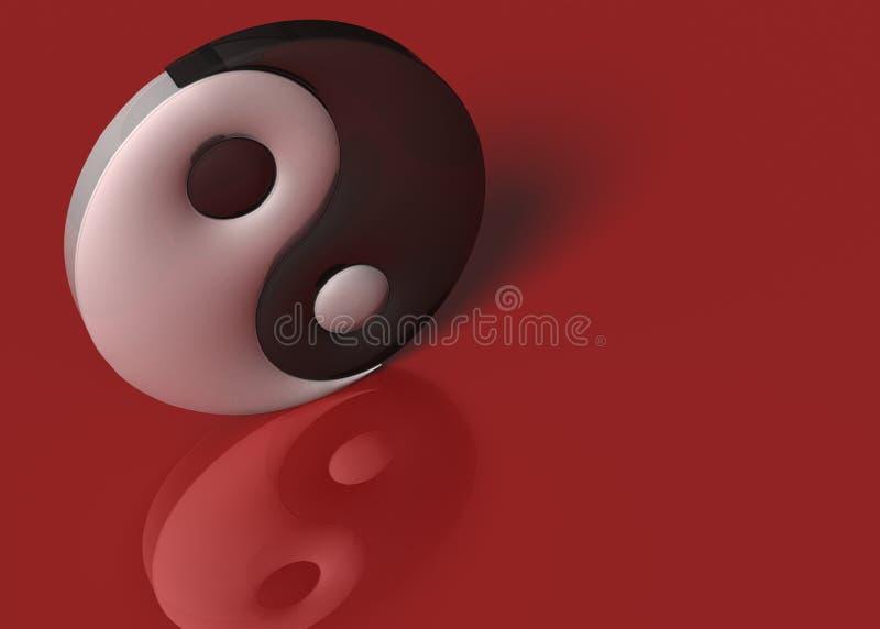 Ένα σημάδι yin yang απεικόνιση αποθεμάτων