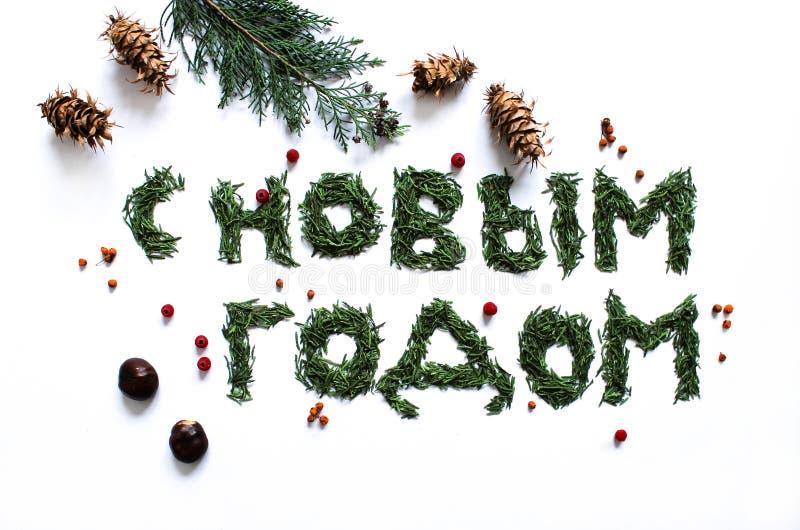Ένα σημάδι καλή χρονιά στα ρωσικά στοκ φωτογραφίες