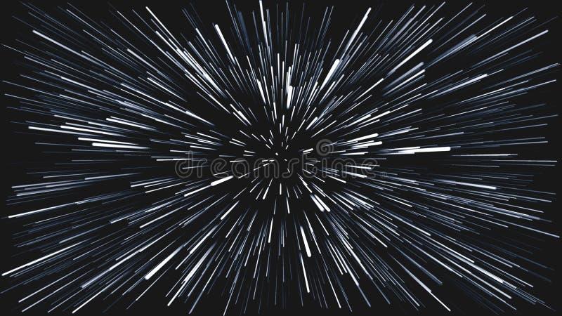 Ένα σκοτεινό υπόβαθρο με τις αφηρημένες γραμμές που βγαίνουν από το κέντρο των γκρίζων χρωμάτων ελεύθερη απεικόνιση δικαιώματος