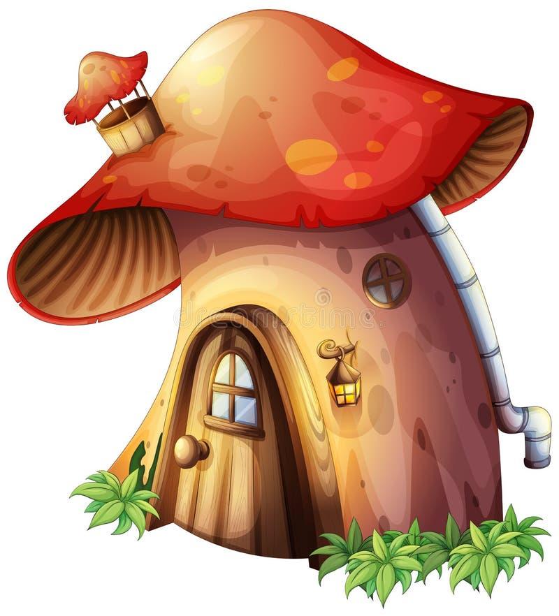 Ένα σπίτι μανιταριών διανυσματική απεικόνιση