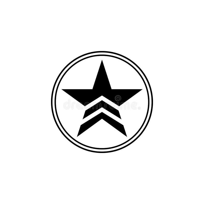 ένα στρατιωτικό αστέρι σε ένα εικονίδιο κύκλων Στοιχείο της απεικόνισης κομμουνισμού Γραφικό εικονίδιο σχεδίου εξαιρετικής ποιότη ελεύθερη απεικόνιση δικαιώματος