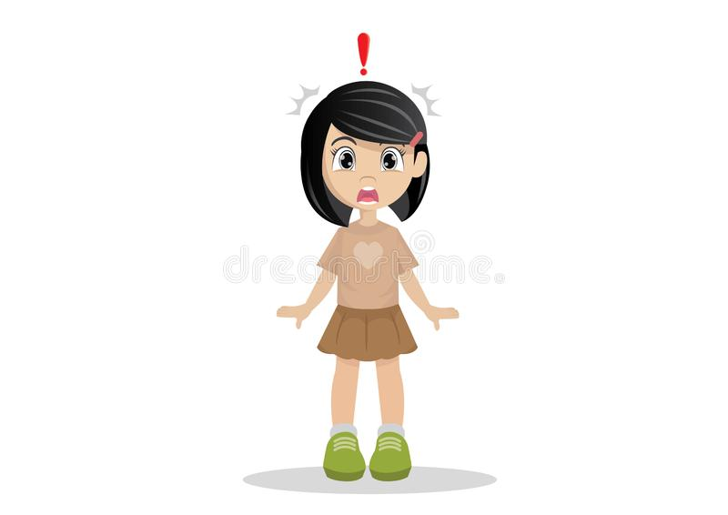 Ένα συγκλονισμένο μικρό κορίτσι στοκ φωτογραφία με δικαίωμα ελεύθερης χρήσης