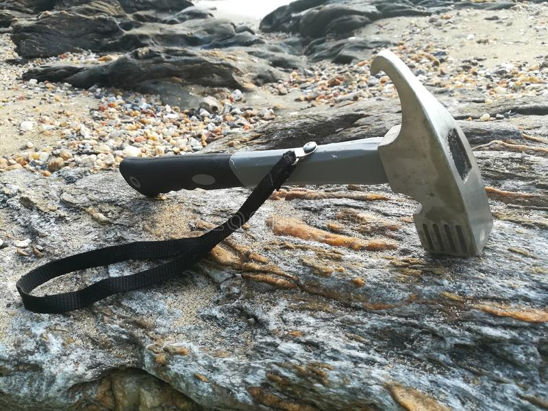 Ένα σφυρί στην παραλία στοκ φωτογραφίες