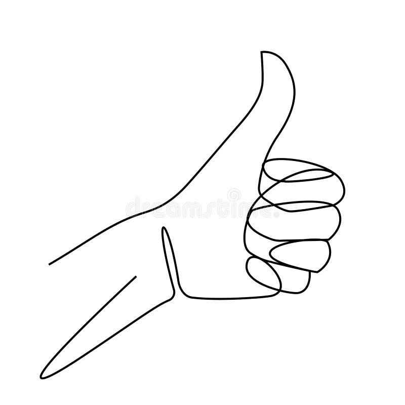 Ένα σχέδιο γραμμών του χεριού που παρουσιάζει μεγάλο σημάδι Συνεχές δάχτυλο γραμμών επάνω Hand-drawn διανυσματική απεικόνιση γραμ ελεύθερη απεικόνιση δικαιώματος