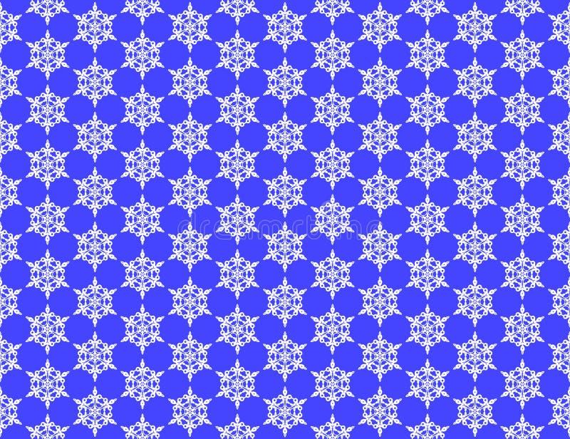 Ένα σχέδιο snowflakes, άσπρα snowflakes σε ένα μπλε υπόβαθρο απεικόνιση αποθεμάτων