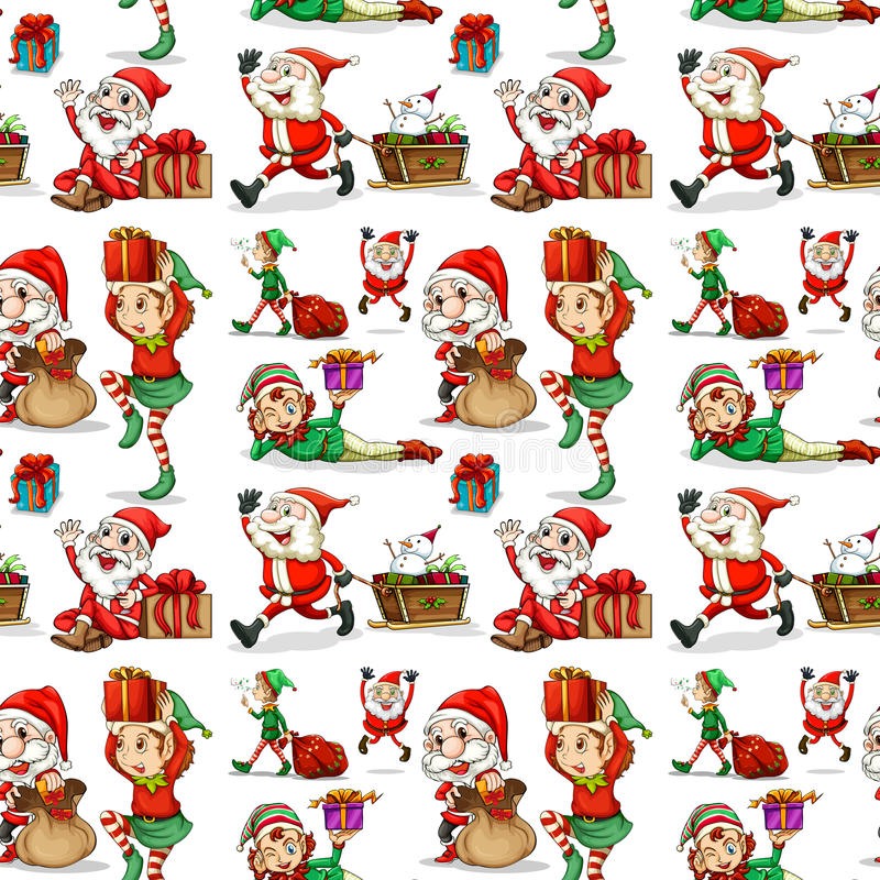 Ένα σχέδιο Χριστουγέννων με τις νεράιδες απεικόνιση αποθεμάτων