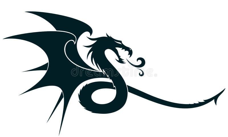 Ένα σύμβολο δράκων διανυσματική απεικόνιση