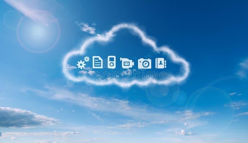 Ένα σύννεφο αποθήκευσης διανυσματική απεικόνιση
