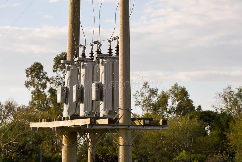 Ένα σύνολο ηλεκτρικού πλέγματος 02 τριών powerl στοκ φωτογραφίες με δικαίωμα ελεύθερης χρήσης