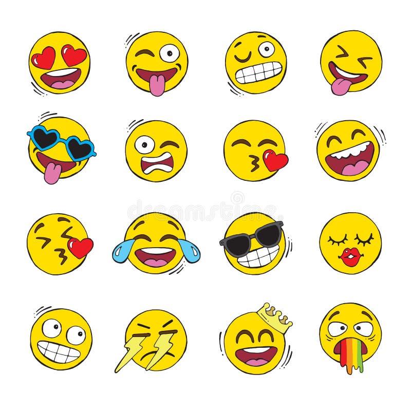 Ένα σύνολο προσώπων emoji απεικόνιση αποθεμάτων