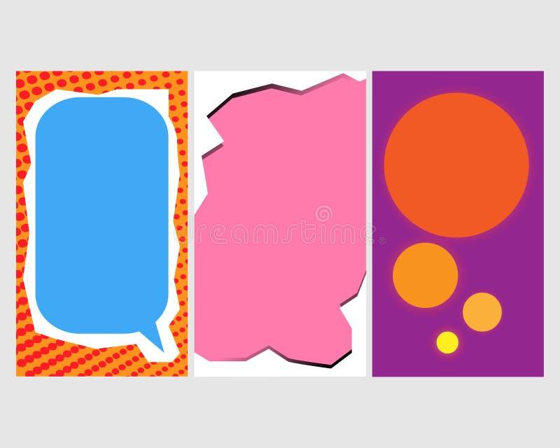 Ένα σύνολο προτύπων για τις ιστορίες instagram Σύγχρονο σχέδιο κάλυψης για τα κοινωνικά δίκτυα, ιπτάμενα, κάρτες ελεύθερη απεικόνιση δικαιώματος