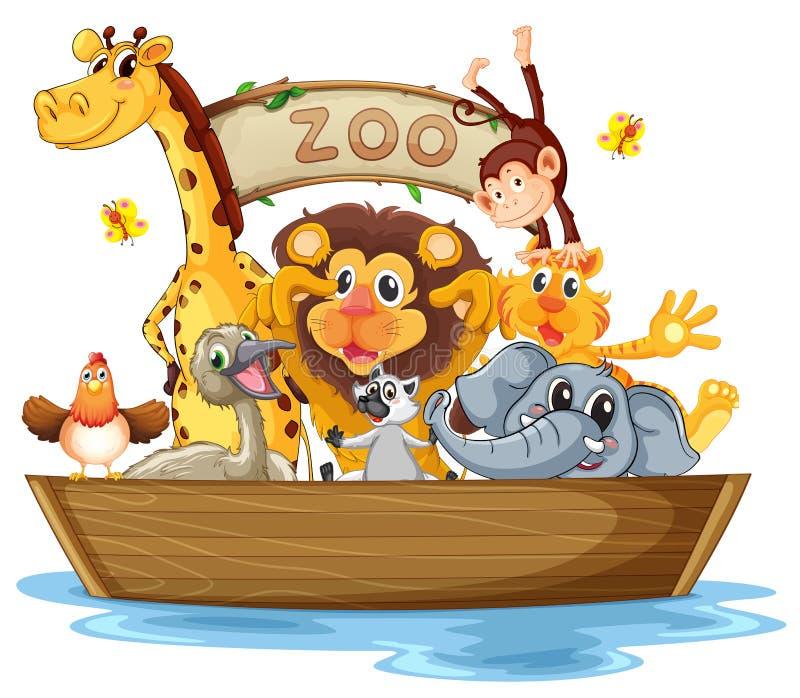 Ένα σύνολο βαρκών των ζώων απεικόνιση αποθεμάτων