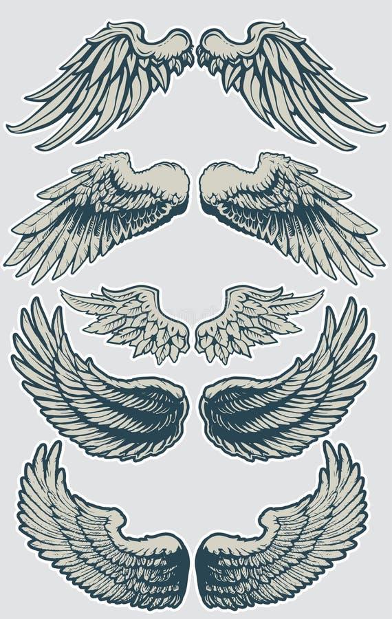 Σύνολο 1 φτερών απεικόνιση αποθεμάτων