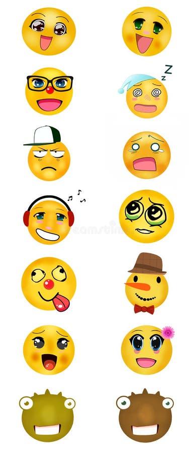 Ένα σύνολο διαφορετικών smileys απεικόνιση αποθεμάτων