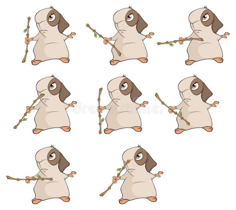 Ένα σύνολο ινδικά χοιρίδια για ένα παιχνίδι στον υπολογιστή διανυσματική απεικόνιση