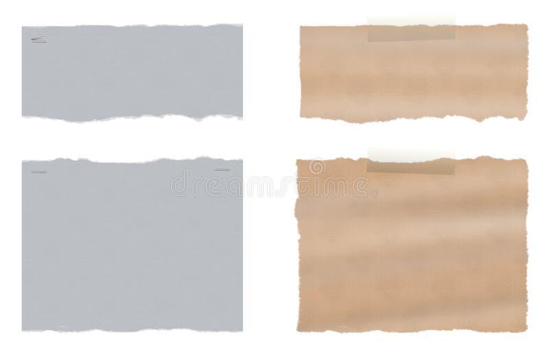 Ένα σύνολο δύο σχισμένου σχισμένου εγγράφου ελεύθερη απεικόνιση δικαιώματος