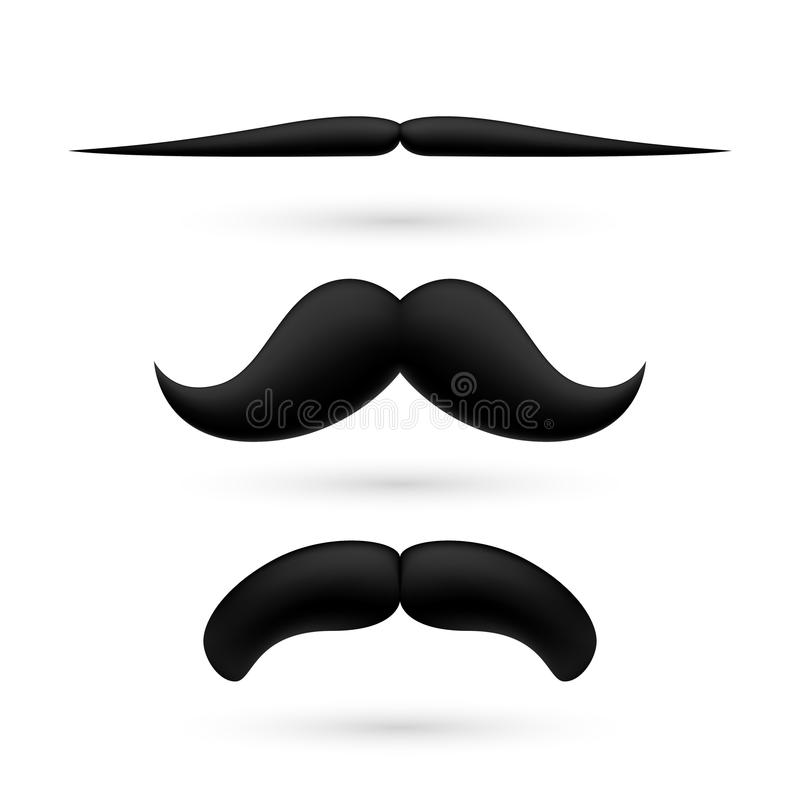Ένα σύνολο moustache τρία απεικόνιση αποθεμάτων