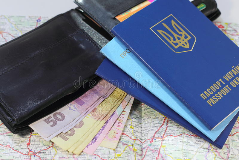 Ένα ταξίδι στην Ευρώπη με τα διαβατήρια στοκ φωτογραφίες με δικαίωμα ελεύθερης χρήσης