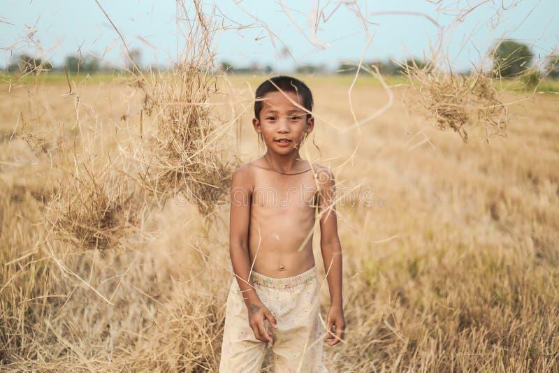 Ένα ταϊλανδικό αρχαίο hairstyle αγοριών στοκ φωτογραφία με δικαίωμα ελεύθερης χρήσης