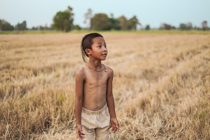 Ένα ταϊλανδικό αρχαίο hairstyle αγοριών στοκ εικόνες