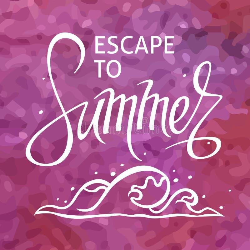 Ένα τετραγωνικό διανυσματικό υπόβαθρο με ένα κύμα θάλασσας Διαφυγή στο καλοκαίρι Ένα πρότυπο για μια αφίσα, κάρτα, ιπτάμενο ελεύθερη απεικόνιση δικαιώματος