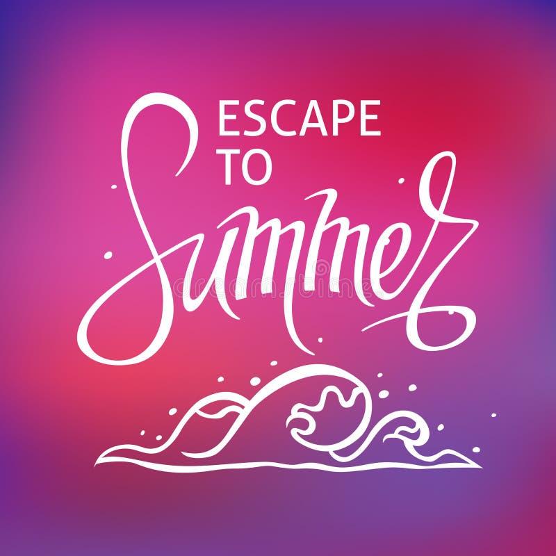 Ένα τετραγωνικό διανυσματικό υπόβαθρο με ένα κύμα θάλασσας Διαφυγή στο καλοκαίρι Ένα πρότυπο για μια αφίσα, κάρτα, ιπτάμενο δ ελεύθερη απεικόνιση δικαιώματος