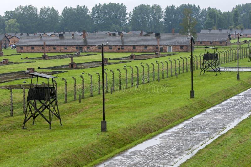 Ένα τμήμα του στρατοπέδου συγκέντρωσης auschwitz-Birkenau σε Oswiecim στην Πολωνία στοκ εικόνες