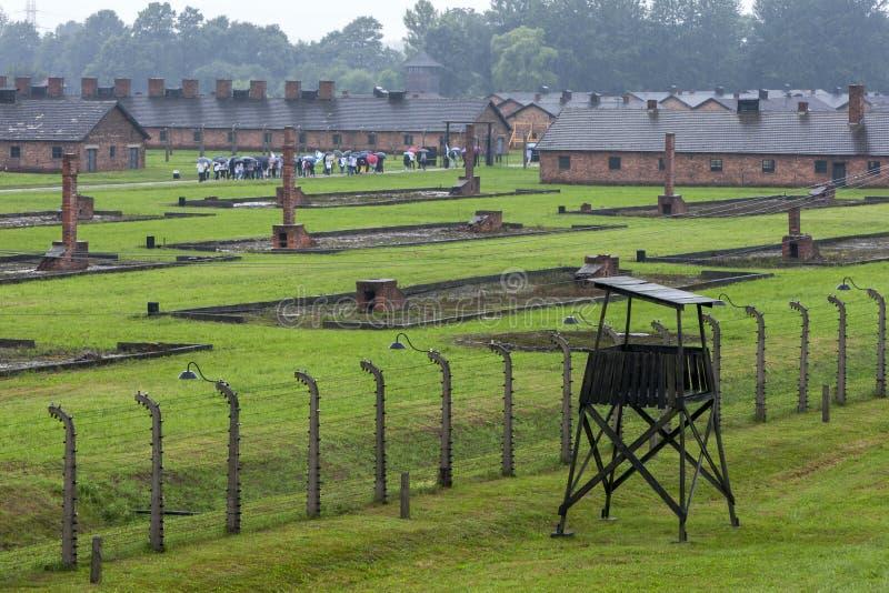 Ένα τμήμα του στρατοπέδου συγκέντρωσης auschwitz-Birkenau σε Oswiecim στην Πολωνία στοκ εικόνες με δικαίωμα ελεύθερης χρήσης