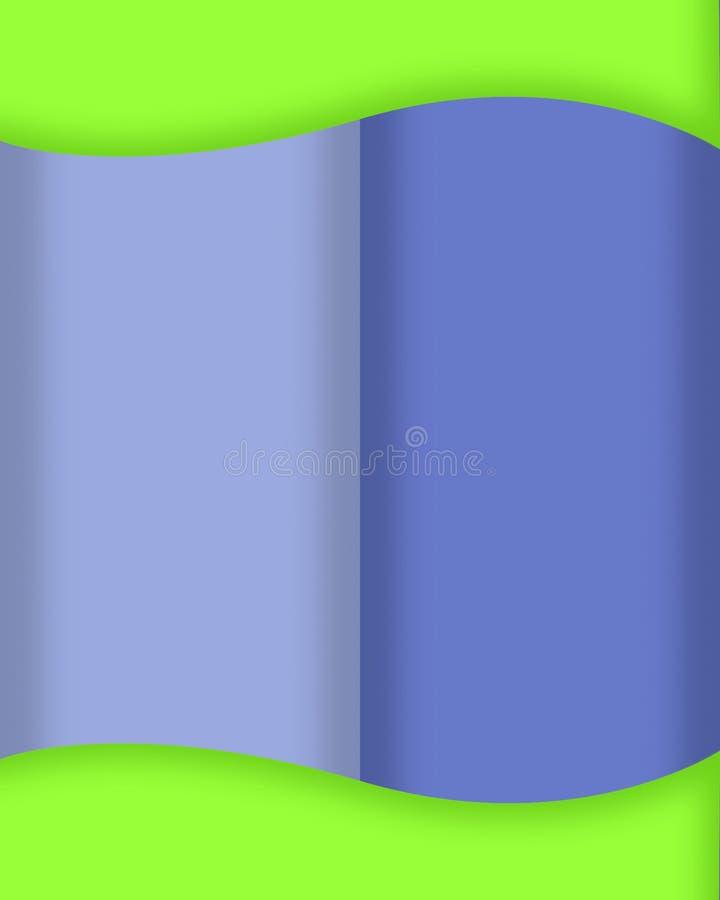 ένα τριπλό κύμα διανυσματική απεικόνιση