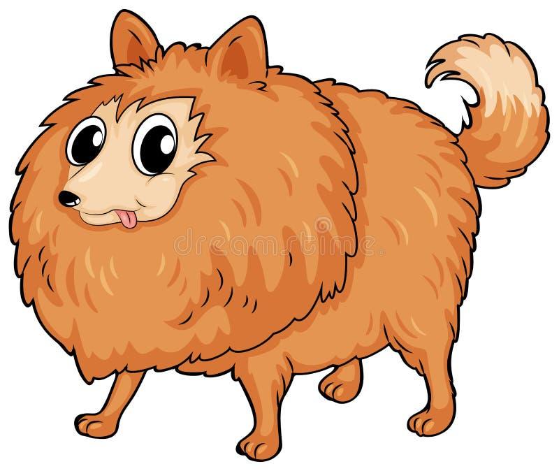 Ένα τριχωτό σκυλί διανυσματική απεικόνιση