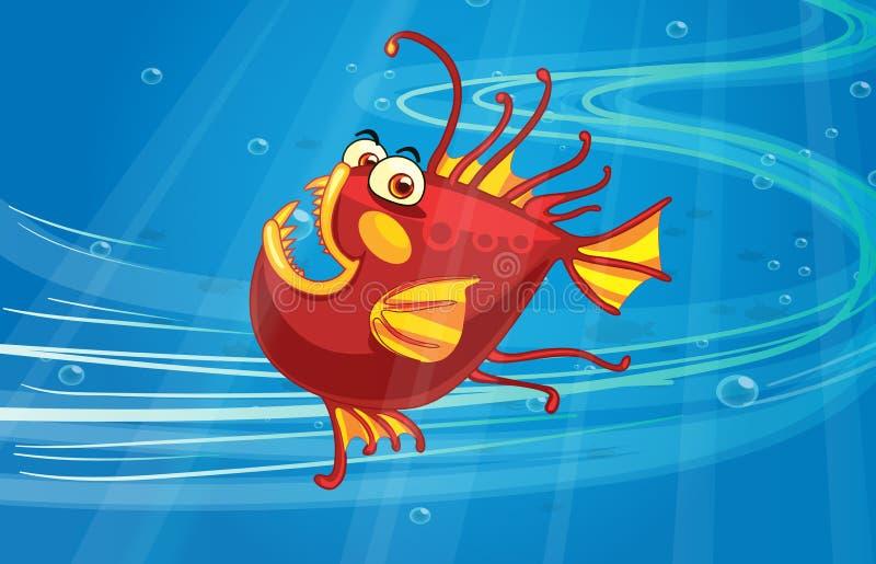 Ένα τρομακτικό ψάρι ελεύθερη απεικόνιση δικαιώματος