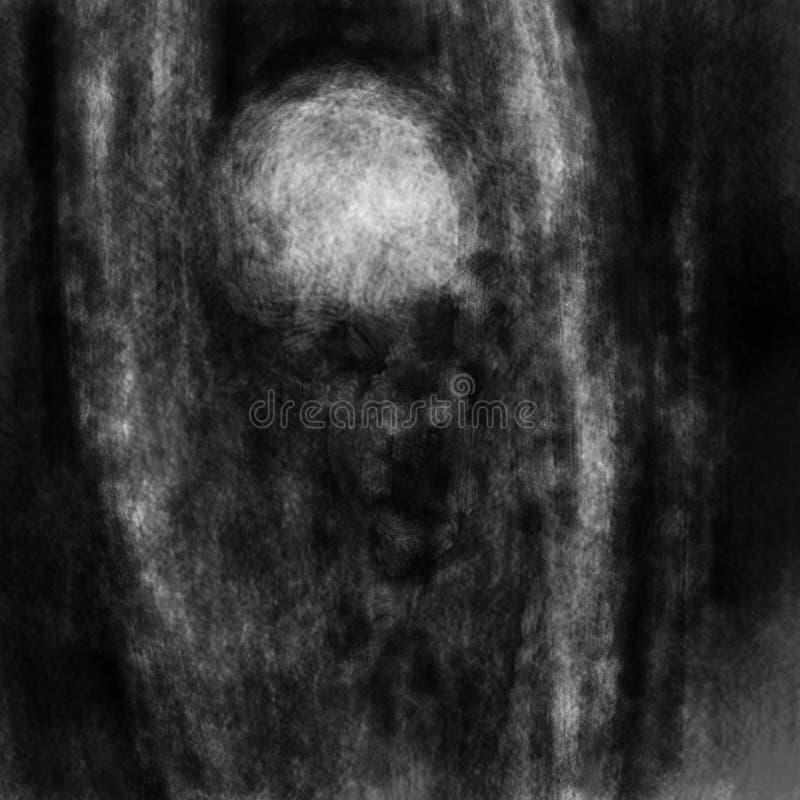 Ένα τρομερό πλάσμα με τα χέρια ψηλά βγήκε από το σκοτάδι διανυσματική απεικόνιση