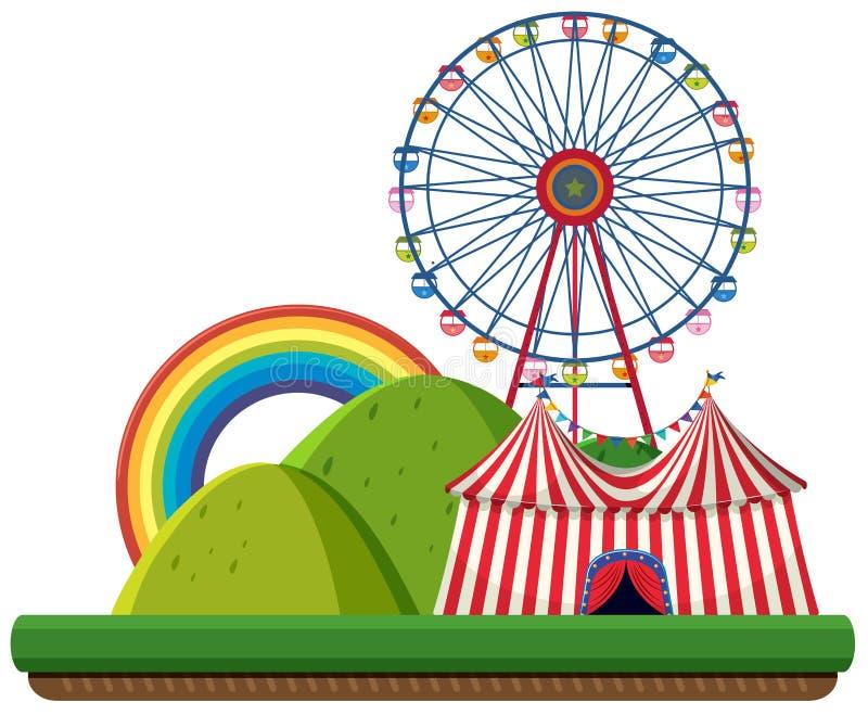Ένα τσίρκο στο πρότυπο φύσης διανυσματική απεικόνιση