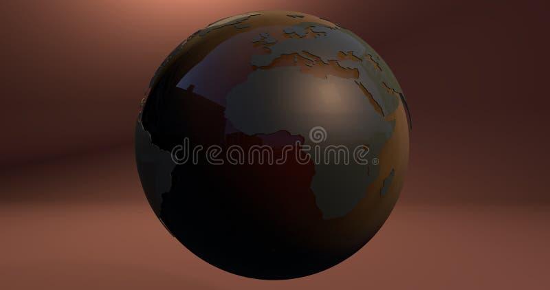 Ένα υπόβαθρο με το γήινο πλανήτη έκανε με τα χρώματα κλίσης, το οποίο παρουσιάζει ήπειρο της Αφρικής ελεύθερη απεικόνιση δικαιώματος