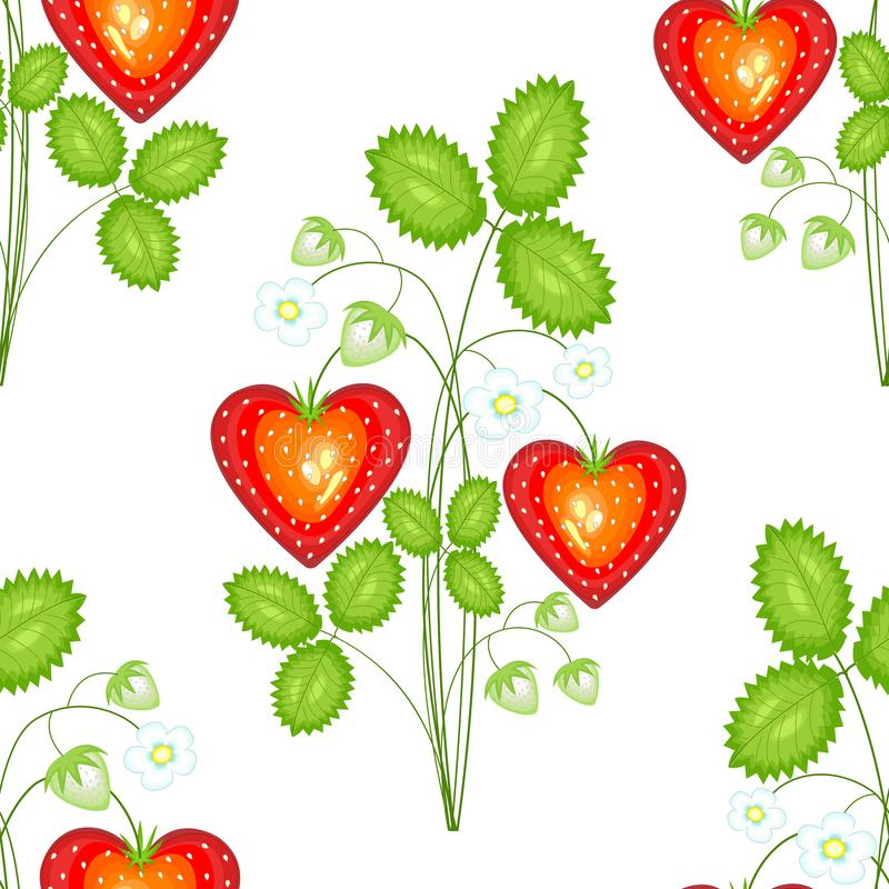 Ένα φανταχτερό σχέδιο Ώριμες όμορφες φράουλες Κατάλληλος ως ταπετσαρία στην κουζίνα, ως υπόβαθρο για τα τρόφιμα συσκευασίας, τα κ ελεύθερη απεικόνιση δικαιώματος