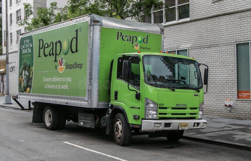 Ένα φορτηγό Peapod στοκ εικόνες