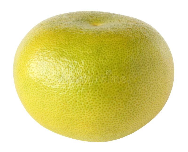Ένα φρούτα εσπεριδοειδών sweetie που απομονώνονται ολόκληρα στο λευκό με το ψαλίδισμα της πορείας στοκ φωτογραφία με δικαίωμα ελεύθερης χρήσης