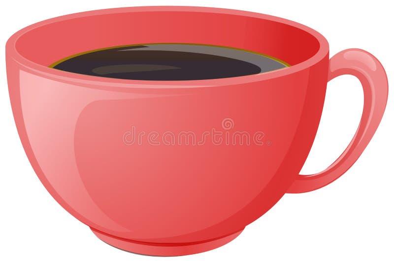 Ένα φλιτζάνι του καφέ διανυσματική απεικόνιση