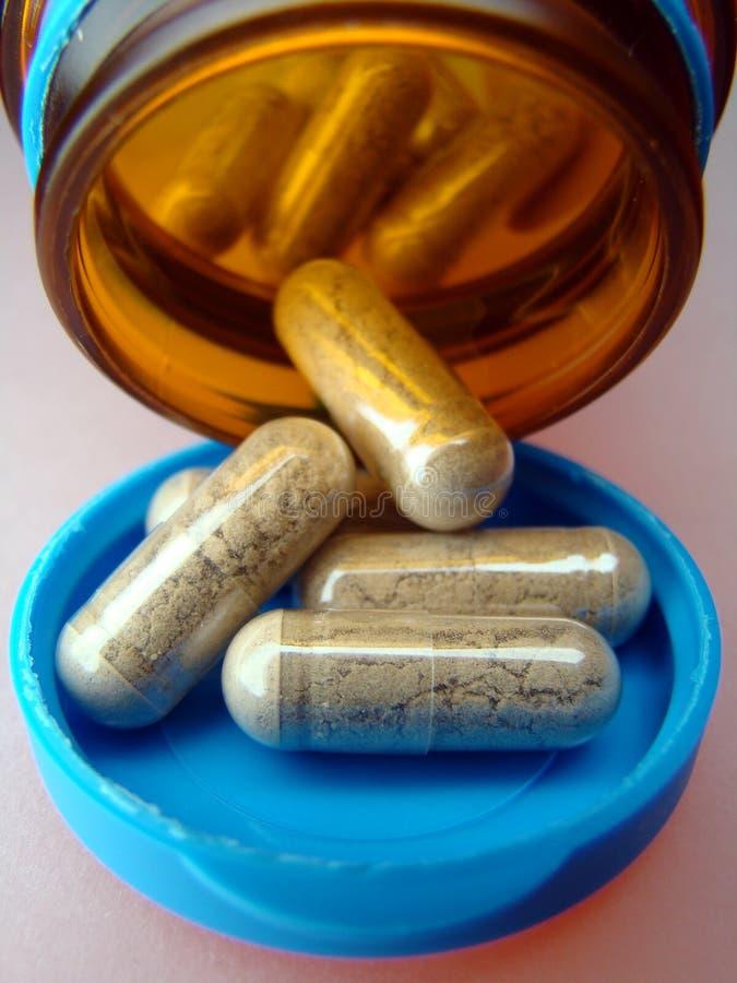 ένα χάπι παίρνει Στοκ Φωτογραφία