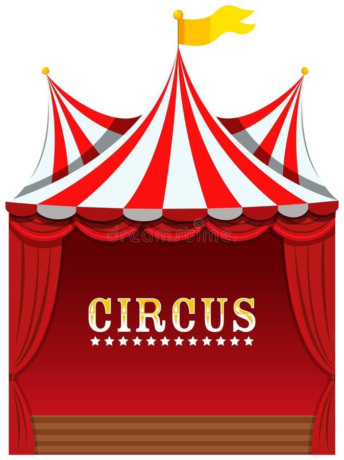 Ένα χαριτωμένο τσίρκο στο άσπρο υπόβαθρο διανυσματική απεικόνιση